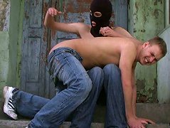 Popular school stud submits to a masked master and gets his bottom spanked red