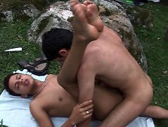 Latin boys uncovering the pleasures of gay banging