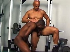 Ebony hunk getting his tight ass stretched. Extreme black ass banging