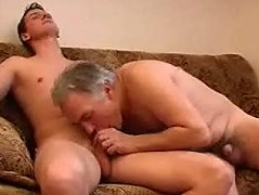 His father has a really nice bottom and son feels happy as he fucks his ass really deep. Daddy\'s son makes him happy