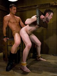 Handsome Rusty Stevens trains Dean Tucker to be an UpperFloor.com slave and fucks him in bondage.