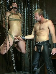 Scott Tanner humiliates and fucks Derrek Diamond in bondage.