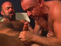 After stuffing his cock inside of his buddy\'s tight ass, he pulls it out and shoots hot jizz