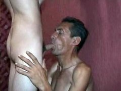Lustful old gay gets a fresh tight twink to entertain his hard cock with