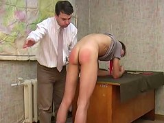 Though this young have prepared the most part of the home task, his gay teacher doesn\'t feel satisfied. He just forces young twink to lower his jeans then spanks his ass so well. Nasty teacher uses a ping-pong racket for bringing sinful lad much stronger