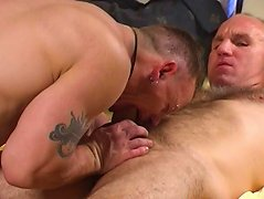 These daddies got it on after an intense massage that loosened his ass up good