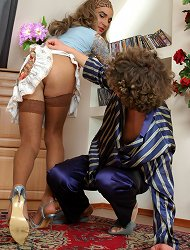 Hot sissy in sexy attire and his gay roommate add spice to their friendship