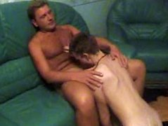 Neighbor got a really unexpected surprise for the innocent guy so he turns him around and gives a really hot bump in his innocent ass