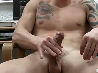 Horny Queer Fingers His Ass And Rubs His Cock Indoors