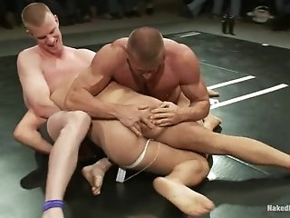 Four Gays Have A Wrestling Match On Tatami And Bang Doggy Style